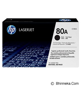 HP Black Toner 80A [CF280A] - Toner Printer Hp